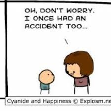 Cyanide And Happiness Memes - baby cries to mom about an accident in comic by cyanide and happiness