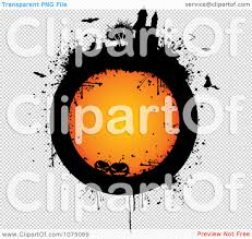 halloween transparent background clipart grungy orange halloween circle with a haunted castle