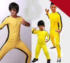 bruce yellow jumpsuit kung fu yellow vintage bruce costume yellow