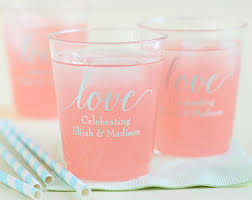 clear plastic cups for wedding wedding cups etsy