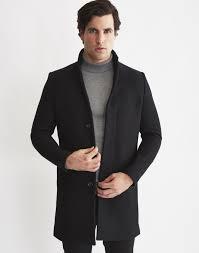 selected brook coat in black for men lyst