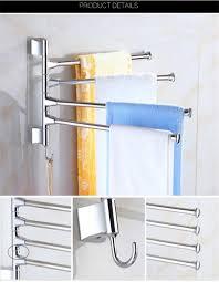 Kitchen Storage Racks by Layer Rotary Bathroom Towel Rack Bars Movable Storage Hanging