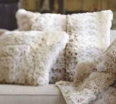 Pottery Barn Faux Fur Pillow 18 Best Pillows For Leather Sectional Images On Pinterest