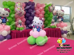 Hello Kitty Party Decorations Party Decorations Miami Balloon Sculptures