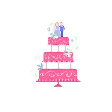 big wedding cake flat illustration stock illustration image