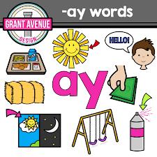 grant avenue design vowel teams clipart u2013 u201cay u201d vowel team clip