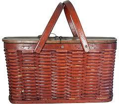 vintage picnic basket shelton picnic basket with metal liner vintage american home