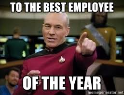 Meme Of The Year - to the best employee of the year picard congrats meme generator