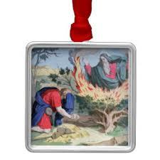 burning bush ornaments keepsake ornaments zazzle