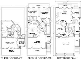 three story house plans floor plan for narrow lots