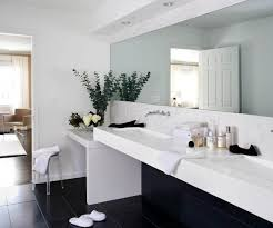 Narrow Wall Mirror Bathroom Long Narrow Wall Mirror Idea Also Contemporary Bathroom