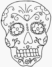 day of the dead skeleton coloring pages coloring home