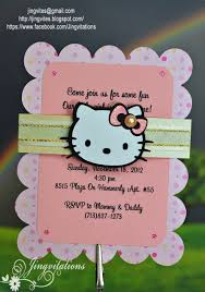 custom handmade hello kitty birth announcement jingvitations