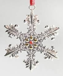 waterford silver snowflake ornaments at replacements ltd