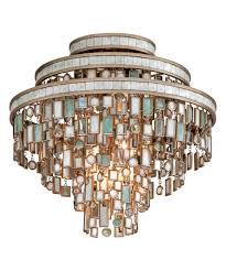 Crystal Flush Mount Lighting Corbett Lighting 142 33 Dolcetti 18 Inch Wide Semi Flush Mount