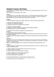 marvelous example of a process essay outline example of a history