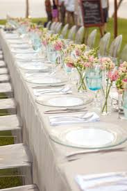 picture of gorgeous spring wedding table settings