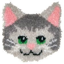 Hook Latch Rugs Amazon Com Mcg Textiles Huggables Animal Kitty Pillow Latch Hook Kit