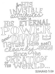 sunday coloring page u2013 romans 1 20 u2013 from victory road