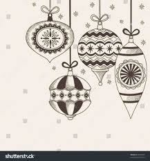christmas ornaments sketches cheminee website