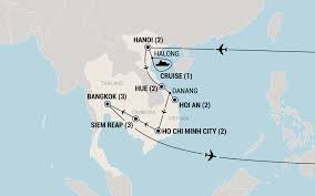 Map Of Thailand Cleveland Vietnam Cambodia U0026 Thailand Fun Affordable Group Travel Ef