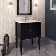 Black Painted Bathroom Cabinets Jeffrey Alexander Jensen Bath Elements Bathroom Vanity With Marble