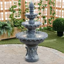 Fountains For Backyard by Garden Classic 3 Tier Outdoor Fountain Hayneedle