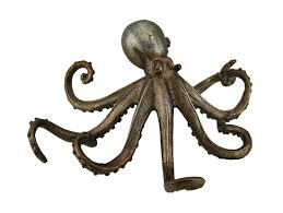 antique gold finish decorative octopus statue walmart com