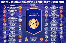 jadwal siaran langsung lengkap international champions cup icc