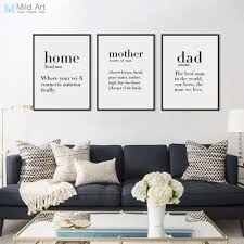 quote definition noun modern minimalist black white family dad mother quotes a4 posters