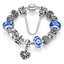 bracelet charms images A te bracelet charms bleu femmes quot charme de la reine quot verre jpg