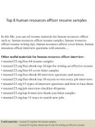 human resources resume example top8humanresourcesofficerresumesamples 150331212451 conversion gate01 thumbnail 4 jpg cb 1427855132