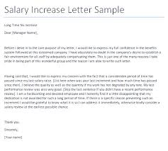 no salary increase letter template from employer to employee