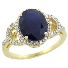 painite engagement ring 10k yellow gold jewelry color gemstone rings blue sapphire