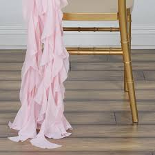 curly willow chair sash chiffon blush curly willow chair sashes for catering wedding party