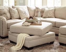 Traditional Living Room Furniture Stores by Luxora Traditional Bisque Fabric Wood Square Storage Ottoman