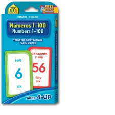 Flashcards Numbers 1 100 Bilingual Numbers 1 100 English Wooks