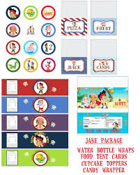 jake and the neverland pirates free printable thank you tags