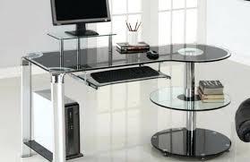 Black Glass Top Computer Desk Glass Desk Large Size Of Living Terrific Glass Desk Easy