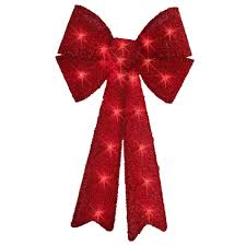 battery operated lighted christmas bows trim a home 24 red tinsel lighted bow with 20 lights seasonal