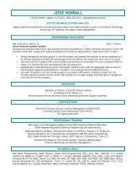 Senior Financial Analyst Sample Resume by Business Analyst Sample Resume Berathen Com