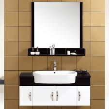 Floating Bathroom Vanities 16mm Solid Wood Small Floating Bathroom Vanities Customized