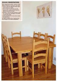 Dining Room Furniture Plans Pine Dining Table And Chairs Plans Woodarchivist