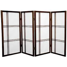 privacy screen room divider amazon com oriental furniture 3 ft tall double cross shoji