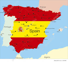 Espana Map Signs And Info Spain Stock Illustration I1978380 At Featurepics