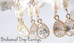 bridesmaid drop earrings diy wedding