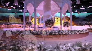 cheap wedding planners mapping wedding in international exhibition centre doha