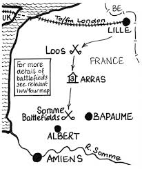 Lille France Map by The War Poets Tour A 4 Day Historical Tour On The Western Front