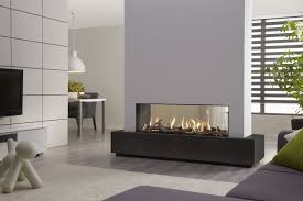 picture of double sided gas fireplace warmer unique room divider