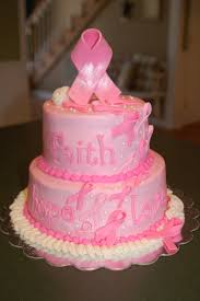 breast cancer tiered fundraiser cake buttercream rose fondant